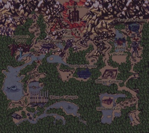 Blood Omen Legacy of Kain - map